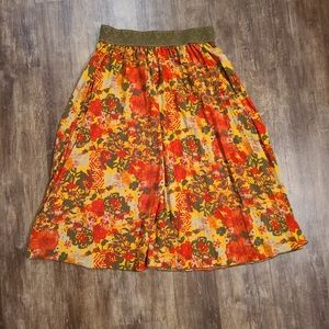 Retro LuLaRoe Medium Skirt Fall Colors